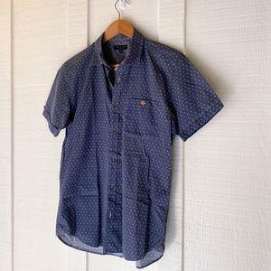TED BAKER Sailing Slim Fit Short Sleeve Shirt 2 S